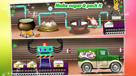 糖生产商及烹饪 - 疯狂糖厂模拟器游戏为孩子们