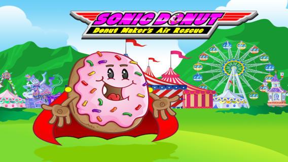 索尼克甜甜圈甜甜圈机的空中救援 : Sonic Donut Donut Maker's Air Rescue