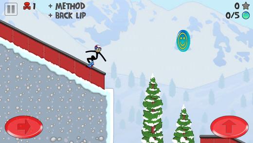 棒男子滑雪板免费