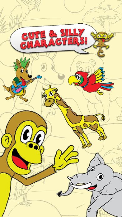 对于学龄前孩子和家庭旗舰版,着色动物园触摸彩色活动彩图 Coloring Animal Zoo Touch To Color Activity Coloring Book For Kids and Family Preschool Ultimate Edition