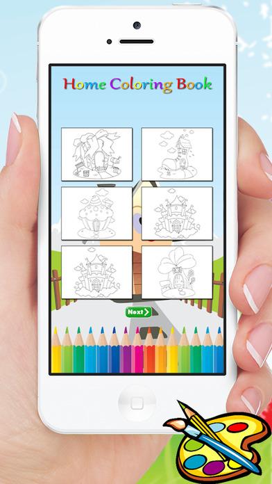 梦想中的房子图画书 - 主页为绘画儿童免费游戏
