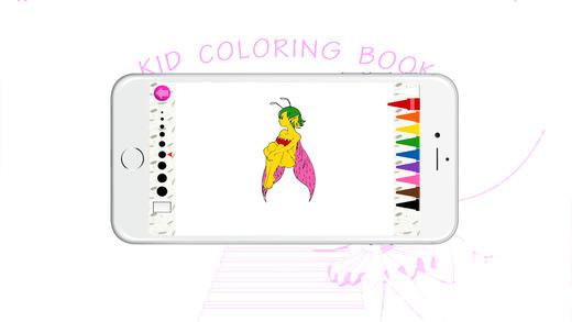 图画书(妖精):着色页与学习游戏为孩子们免费!