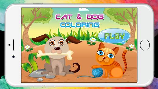 遊戲狗和貓著色書學齡前
