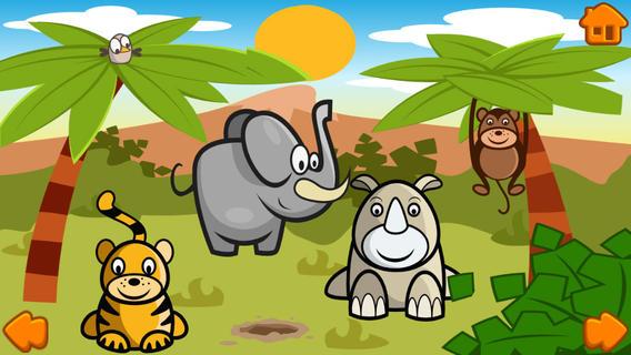 有趣的幼儿 - 一个自由和有趣的动物指着书幼儿,儿童和婴儿