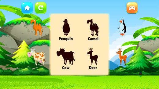 词汇 动物 难题 匹配 阴影 对于 孩子们