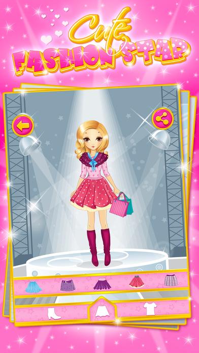 可爱的时尚明星:给小女孩和孩子们的装扮游戏