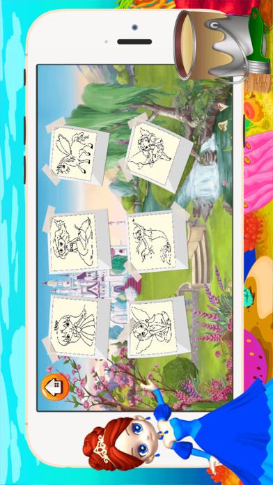 公主女孩图画书 - 所有在1妖精的尾巴画画,和颜色游戏高清对于好孩子