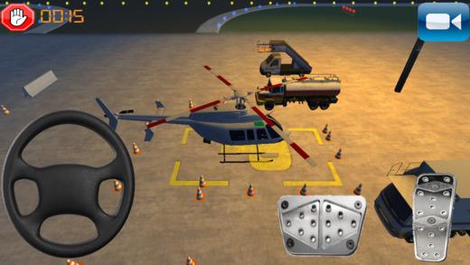 真正的直升机驾驶和机场停车游戏