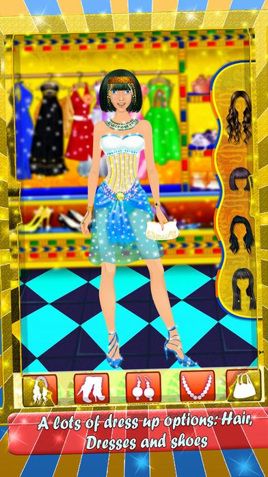 埃及公主美容院 - 时尚工作室和头发护理的游戏为孩子们和女孩