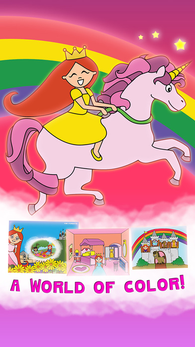 公主的童话着色仙境,儿童与家庭学前免费版 Princess Fairy Tale Coloring Wonderland for Kids and Family Preschool Free Edition