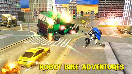 机器人自行车模拟器 - 自动机器人乘车乐趣