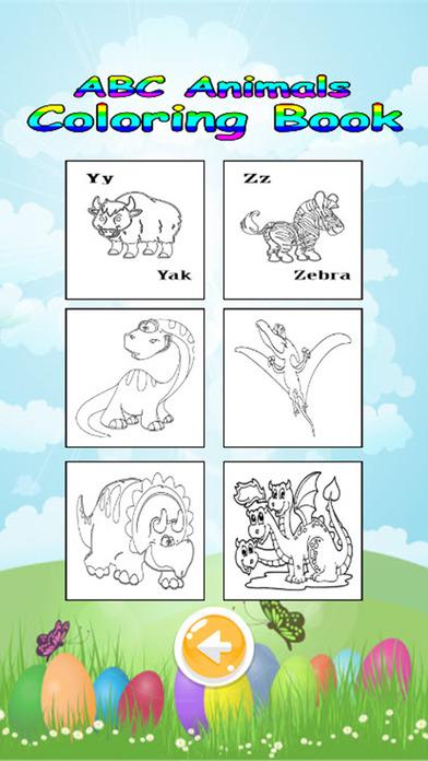 ABC动物着色书和学习词汇