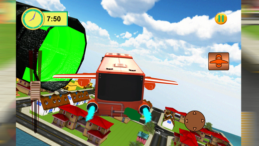 未来派飞行总线3D  - 城市教练模拟器
