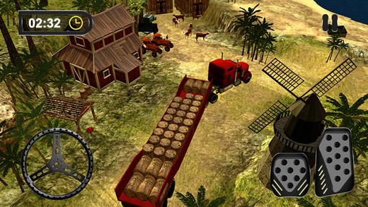 3D农场卡车干草极限 - 农业游戏