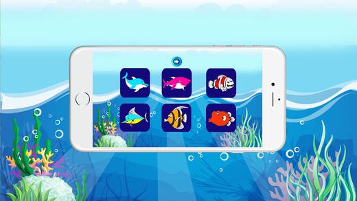 免费彩色书(鱼),着色页和有趣的教育学习游戏的孩子!