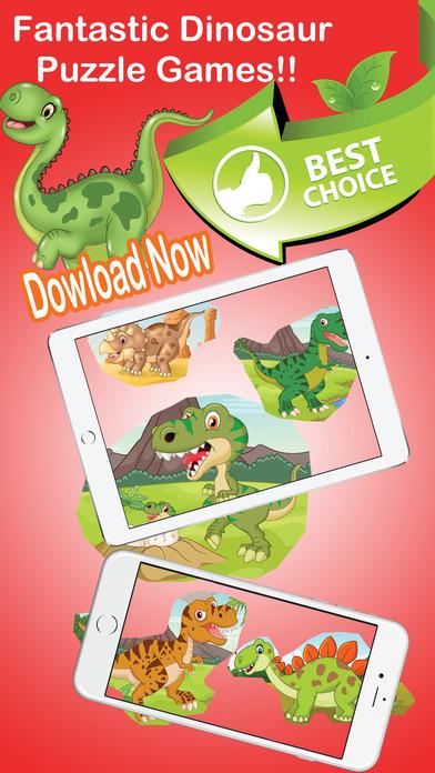 侏罗纪恐龙拼图 - 地球的恐龙益智拼图的游戏,让孩子和幼儿园学习