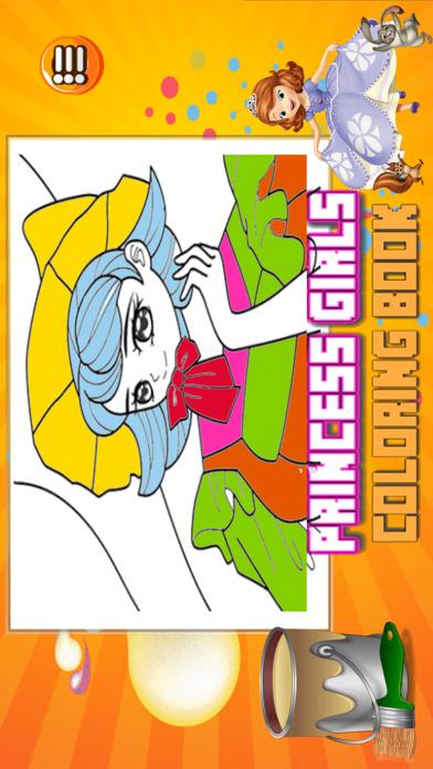 公主女孩图画书 - 所有在1可爱的妖精的尾巴画画,和颜色游戏高清对于好孩子
