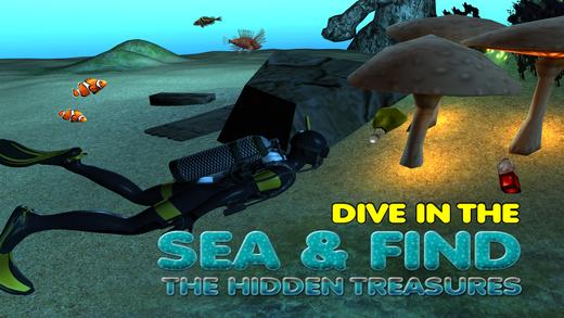 潜水员和疯狂的海上潜水冒险sim
