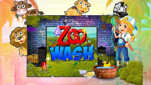 动物园洗 - 在本次沙龙游戏为孩子清理脏乱动物院子