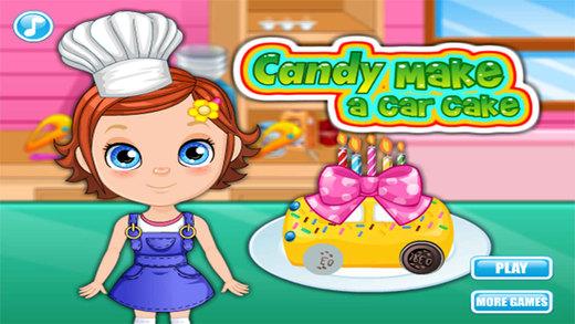 糖糖小厨制作汽车蛋糕,幼儿教育游戏,妈妈和孩子们的游戏-EN