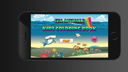 海洋动物彩图对于男孩女孩幼儿