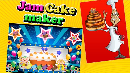 果酱蛋糕制造者 - 烤在这个面包店游戏的孩子蛋糕