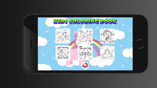 獨角獸兒童圖畫書 - 教育學習遊戲為孩子和幼兒