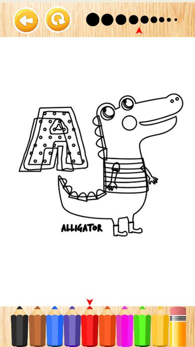动物学习ABC图画书游戏的孩子