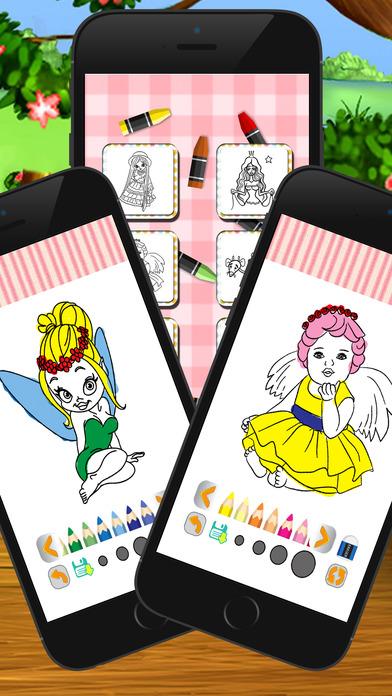 公主可爱着色书为孩子的