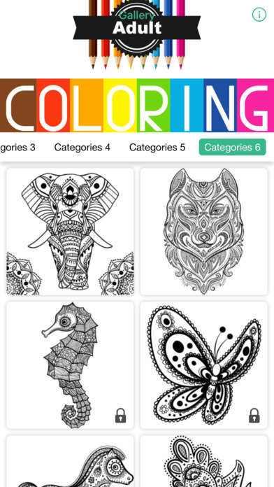 Adult Coloring - 猫头鹰花卉着色书成人放松游戏