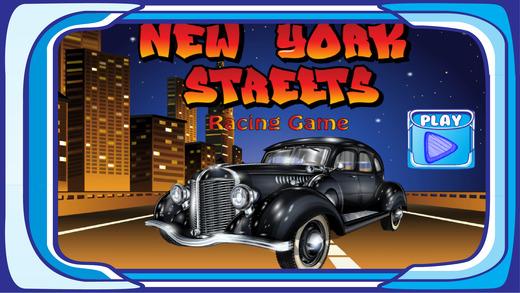 赛车在纽约的街道上