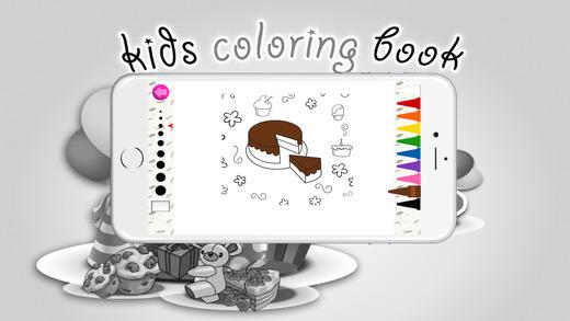 图画书(蛋糕):着色页与学习教育游戏为孩子们免费!