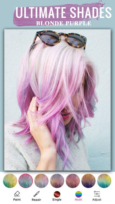 最好的应用程序-头发头发换色颜色染料应用程序