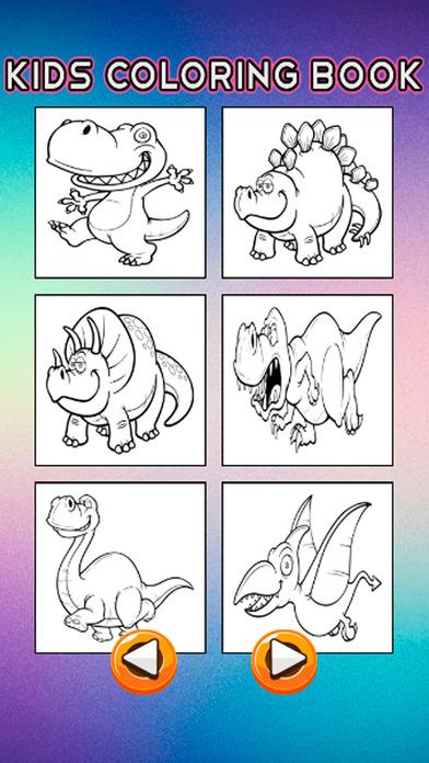 恐龙图画书 - 恐龙绘图页和绘画教育教学技能比赛对于儿童幼儿