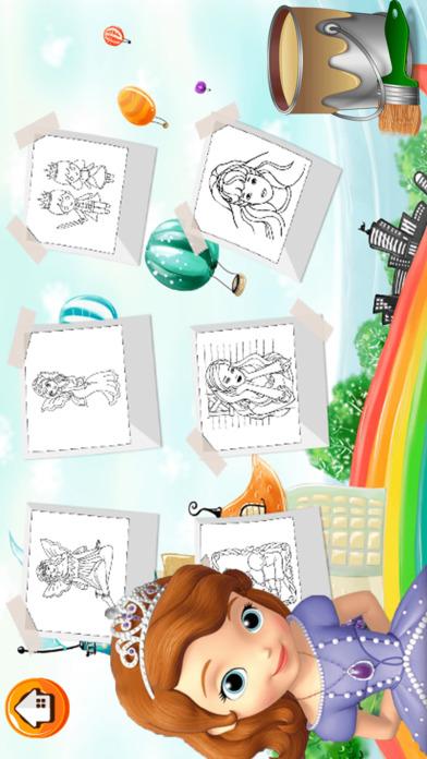 可爱的公主着色书 - 所有在1妖精的尾巴画画,和颜色游戏高清对于好孩子