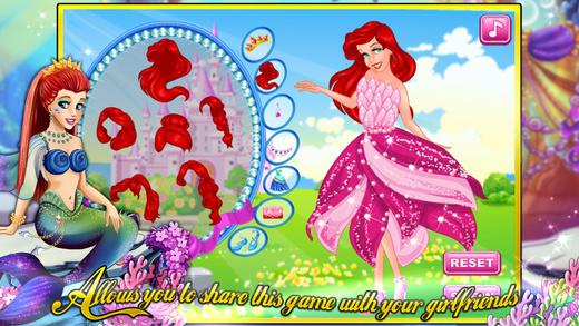 人鱼公主的礼服—经典美容&换装&化妆游戏