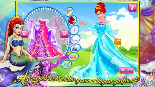 人鱼公主的礼服—经典美容换装化妆游戏