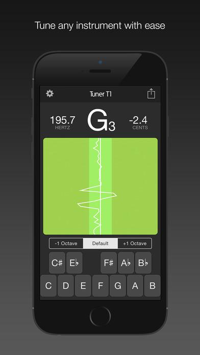 Tuner T1 Free – 可对任何一种乐器进行调音(吉他,乌克丽丽,小提琴,中提琴,贝斯,和大提琴等等)。