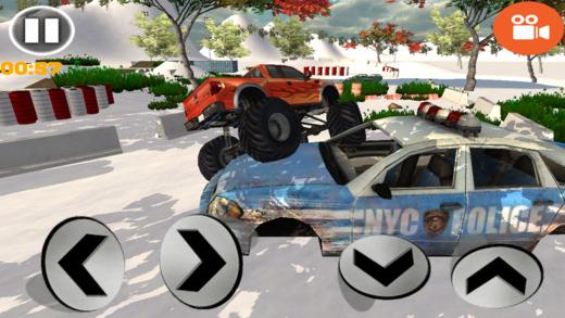 怪物车轮越野竞技场停车游戏