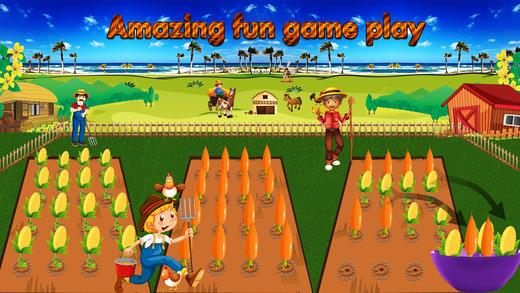 农作物收获 - 孩子农场游戏