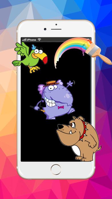 动物卡通艺术垫 : 学画画和画动物着色页面可打印为孩子们免费