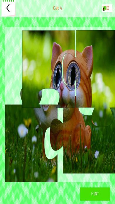 猫拼图 猫的游戏 可爱的小猫 儿童拼图 好玩的益智小游戏 猫的冒险 可愛貓咪 教育游戏下载 1