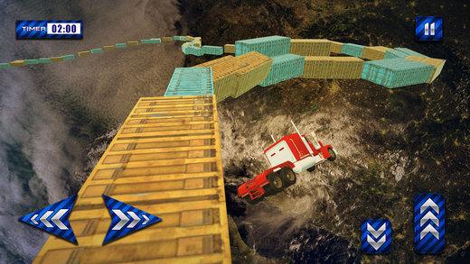 不可能的轨道卡车驾驶和特技模拟器3d
