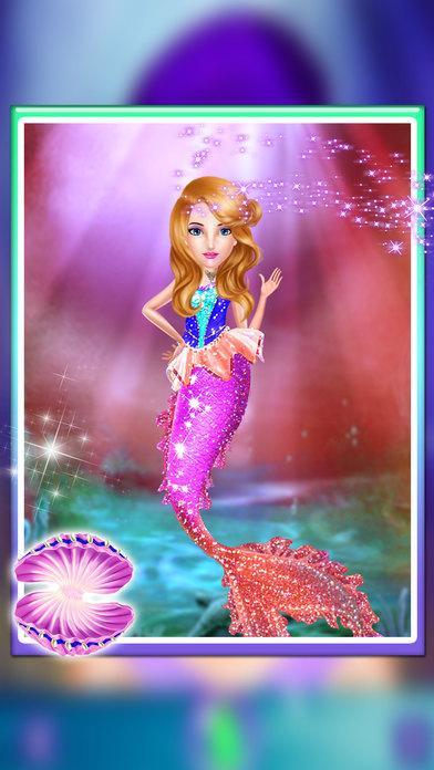 美人鱼沙龙改头换面乐趣 - 人鱼海洋沙龙及换装 - 水世界改头换面