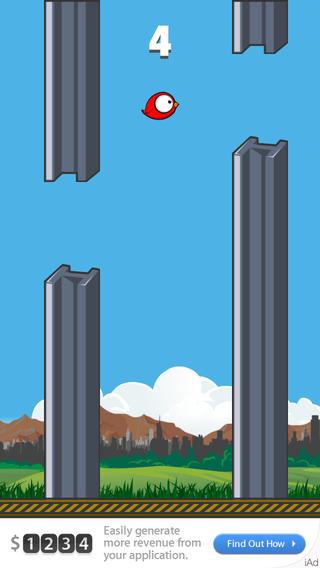 威武 鸟 Mighty Bird: 不可能 飞扬的 冒险 无穷 天空 飞行 旅程 新 传奇 行动 游戏 英雄 小 翅膀 非常 大 眼睛 可爱 粉碎 撞 脸 impossible flappy adventure endless journey action game hero tiny wings super big eyes