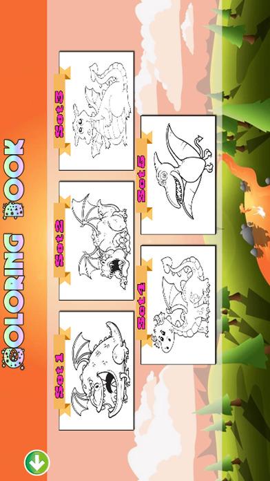 小龙着色页儿童绘画比赛