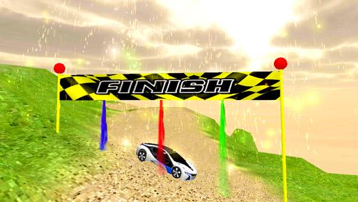 越野跑车的驾驶和3D特技漂移
