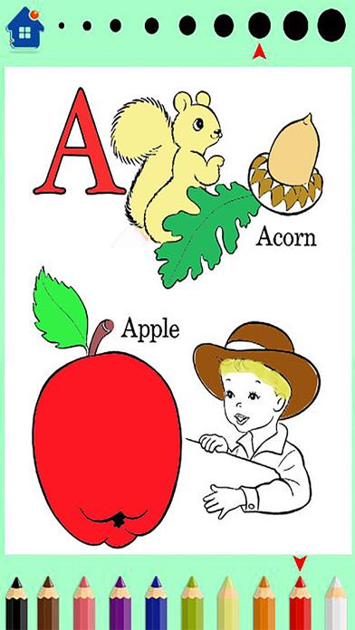 ABC农场着色书 - 最好的教育游戏