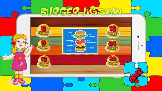 食品汉堡拼图 - 烹饪拼图的游戏为成人和孩子免费