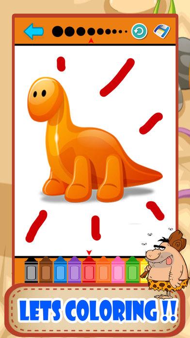 恐龙着色页小孩绘画比赛